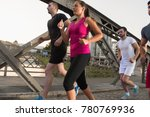 group of young sporty people... | Shutterstock . vector #780769936