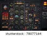 control panel in a plane cockpit | Shutterstock . vector #78077164