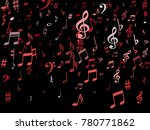 pink flying musical notes... | Shutterstock .eps vector #780771862