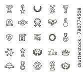simple set of awards vector... | Shutterstock .eps vector #780774508