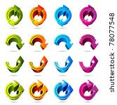 set of icons. color arrows... | Shutterstock .eps vector #78077548