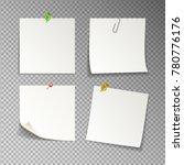 paper set of isolated white... | Shutterstock .eps vector #780776176