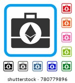 ethereum crystal case icon....   Shutterstock .eps vector #780779896