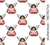 girl angel illustration...   Shutterstock .eps vector #780782716