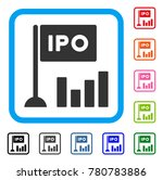 ipo bar chart icon. flat grey...