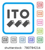 ito tokens icon. flat grey...   Shutterstock .eps vector #780784216