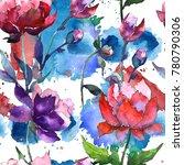 wildflower peony flower pattern ...   Shutterstock . vector #780790306