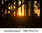 cologne   hohenzollern bridge... | Shutterstock . vector #780794176