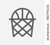 basketball icon line symbol....