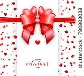 shimmer valentines day greeting ... | Shutterstock .eps vector #780803038