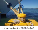 dock hawser and bow of cruise... | Shutterstock . vector #780804466