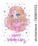 cute vector illustration.... | Shutterstock .eps vector #780807022