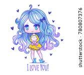 cute vector illustration.... | Shutterstock .eps vector #780807376