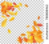 corners of oak leaf vector... | Shutterstock .eps vector #780808462