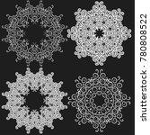 set of circular blue pattern or ... | Shutterstock .eps vector #780808522