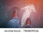 going the right way | Shutterstock . vector #780809026