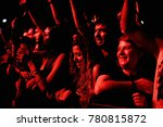 madrid   jun 24  the crowd in a ... | Shutterstock . vector #780815872