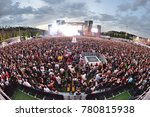 madrid   jun 24  the crowd in a ... | Shutterstock . vector #780815938