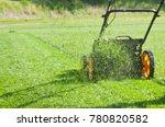 lawn mower mower  grass ... | Shutterstock . vector #780820582