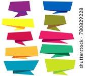 origami paper infographic... | Shutterstock .eps vector #780829228