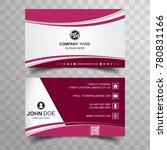 modern business card background | Shutterstock .eps vector #780831166