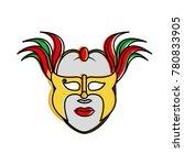 isolated mask design | Shutterstock .eps vector #780833905
