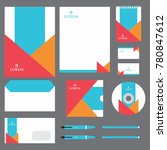 stationery template design ... | Shutterstock .eps vector #780847612