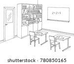 classroom graphic black white... | Shutterstock .eps vector #780850165