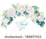 watercolor floral illustration  ...   Shutterstock . vector #780857422