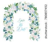 watercolor floral illustration  ...   Shutterstock . vector #780857452