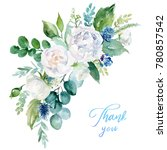 watercolor floral illustration  ... | Shutterstock . vector #780857542