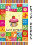 vector happy birthday card.... | Shutterstock .eps vector #78086095