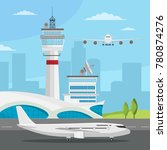 airport and transportation... | Shutterstock .eps vector #780874276