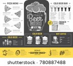 vintage beer menu design.... | Shutterstock .eps vector #780887488