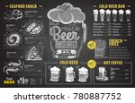 vintage chalk drawing beer menu ... | Shutterstock .eps vector #780887752