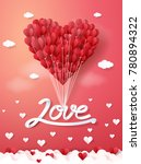 vector illustration.valentine's ... | Shutterstock .eps vector #780894322