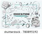 education concept background.... | Shutterstock .eps vector #780895192