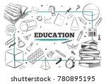 education concept background.... | Shutterstock .eps vector #780895195