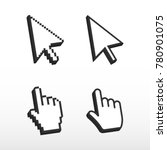 pixel mouse cursors. arrow... | Shutterstock .eps vector #780901075