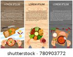 set of persons are eating  top... | Shutterstock .eps vector #780903772