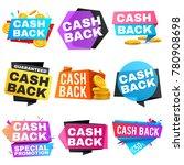 cash back vector sale banners... | Shutterstock .eps vector #780908698