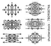 grunge mexican aztec tribal... | Shutterstock .eps vector #780908746