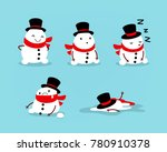early spring  snowman melts.... | Shutterstock .eps vector #780910378