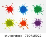 vector paint splatters.colorful ... | Shutterstock .eps vector #780915022