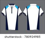 stripe sport polo shirt design   Shutterstock .eps vector #780924985