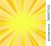 comic halftone yellow... | Shutterstock .eps vector #780927322