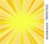 comic halftone yellow... | Shutterstock .eps vector #780927322