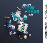 new years 2018. greeting card...   Shutterstock .eps vector #780937666