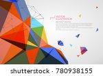 irregular shape of dots  lines... | Shutterstock .eps vector #780938155