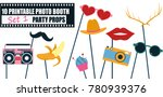 colorful photo booth props icon ... | Shutterstock .eps vector #780939376